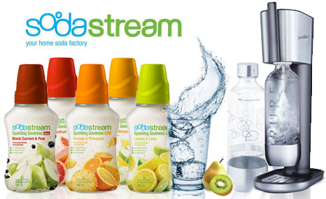 get fizzy with a pure sodastream machine five carbonating bottles five syrups u0026 more for just 149 valued at 286 - Sodastream Reviews