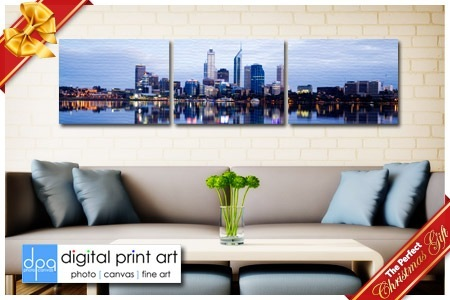 Perfect Christmas Gifts   $85 For Three 25x38cm Customised Canvas Prints  From Digital Print Art, Online ($317 Value)