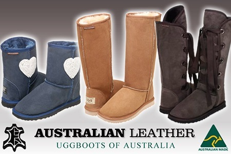Genuine ugg boots of Australia Made in Australia Sizes range from three to 12 Made with premium lambs' wool and sheepskin Warm and luxurious Delivered to ...