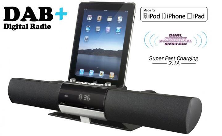 dab radio alarm clock ipod dock reviews grundig dab radio alarm clock dock for iphone and ipod. Black Bedroom Furniture Sets. Home Design Ideas
