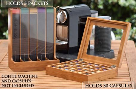 50 Off Bamboo Storage Set For Nespresso Capsules Deals
