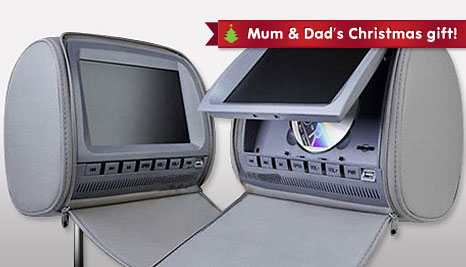keep the kids entertained with 60 off two 7 inch region free dvd player car headrests delivered