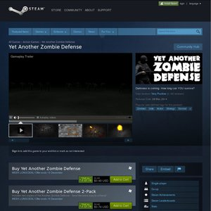 75%OFF Yet Another Zombie Defense Game Deals and Coupons