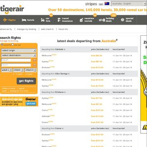 50%OFF 2 for 1 Tiger Air flights Deals and Coupons