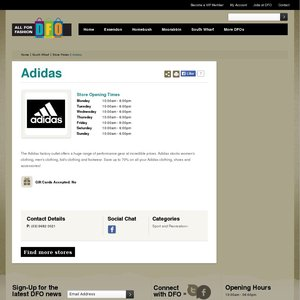 50%OFF Adidas, DFO South Wharf VIC items Deals and Coupons 4989e179432f