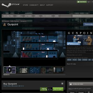75%OFF Steam Gunpoint Deals and Coupons